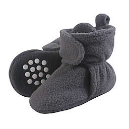 Luvable Friends® Size 0-6M Scooties Fleece Booties in Charcoal