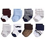 Little Treasures Terry Size 0-6M 8-Pack Socks in Red