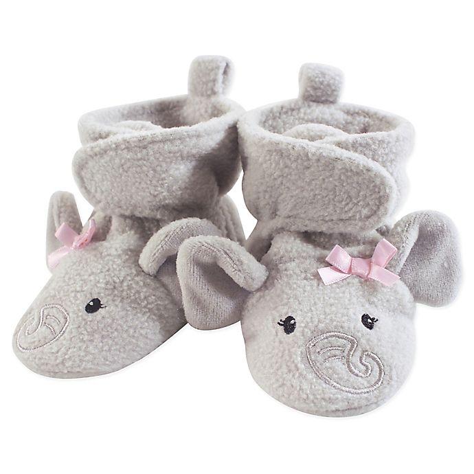 Alternate image 1 for Hudson Baby® Elephant Fleece Scooties in Grey/Pink