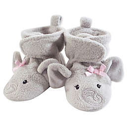 Hudson Baby® Elephant Fleece Scooties in Grey/Pink