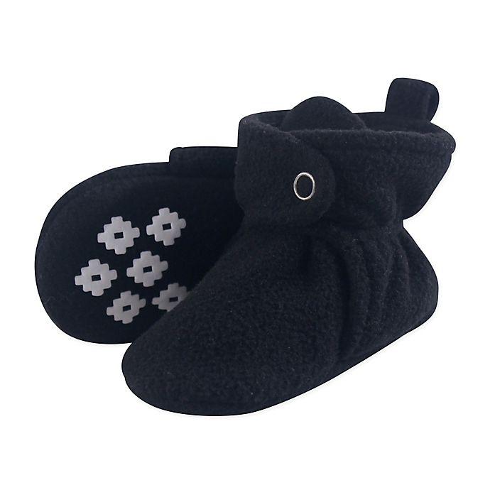 Alternate image 1 for Little Treasures Size 12-18M Scooties Fleece Booties in Black