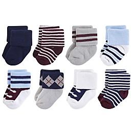 Little Treasures Terry Genius 8-Pack Socks in Grey