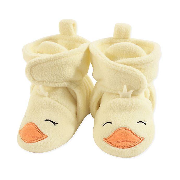 Alternate image 1 for Hudson Baby® Duck Fleece Scooties in Yellow