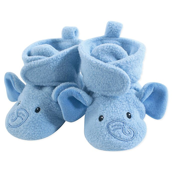 Alternate image 1 for Hudson Baby® Size 12-18M Elephant Fleece Scooties in Blue