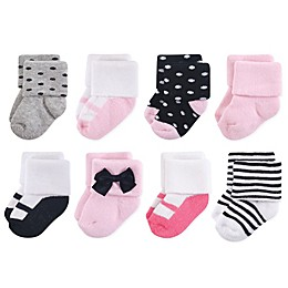 Little Treasures Terry Little Lady 8-Pack Socks in Black