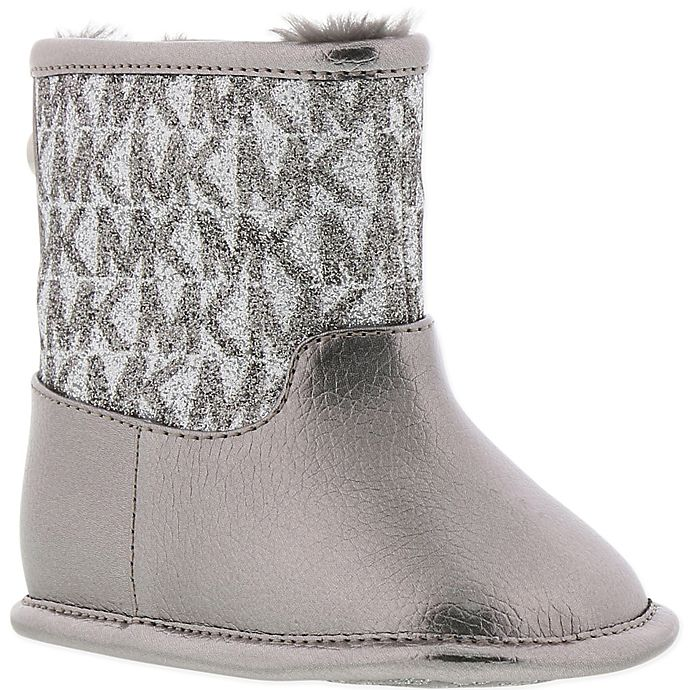 Alternate image 1 for Michael Kors® Logo Boot in Pewter/Silver