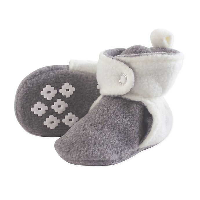 Alternate image 1 for Little Treasures Size 18-24M Fleece-Lined Scooties in White/Grey
