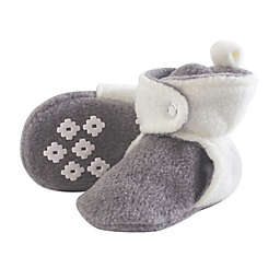 Little Treasures Size 18-24M Fleece-Lined Scooties in White/Grey