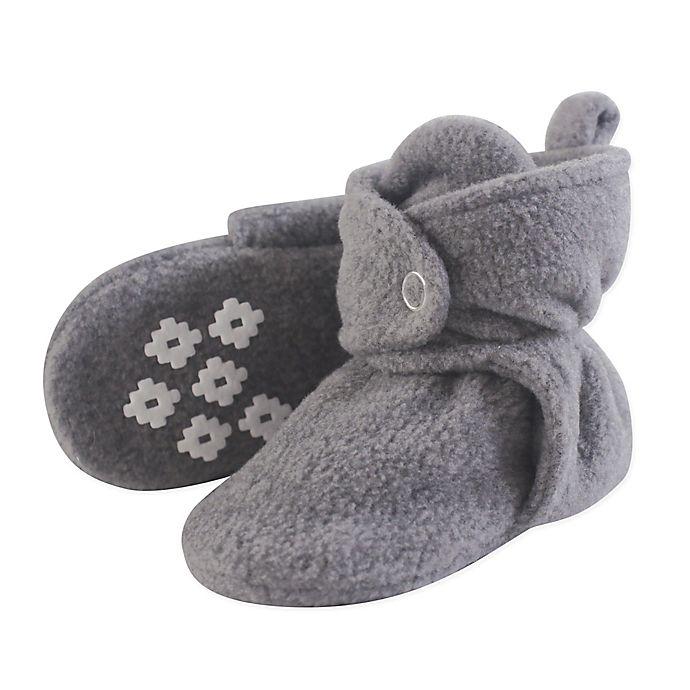 Alternate image 1 for Little Treasures Size 6-12M Fleece-Lined Scooties in Grey