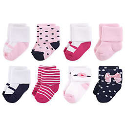 Little Treasures Terry Polished 8-Pack Socks in Blue
