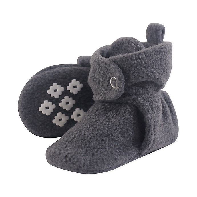 Alternate image 1 for Little Treasures Size 18-24M Fleece-Lined Scooties in Heather Charcoal