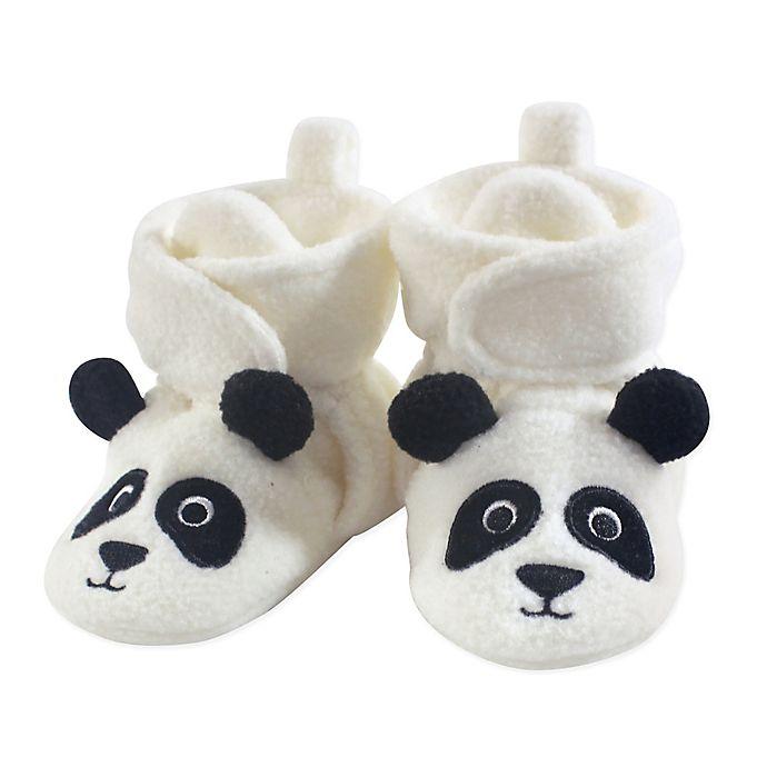 Alternate image 1 for Hudson Baby® Size 0-6M Panda Bear Fleece Scooties in White