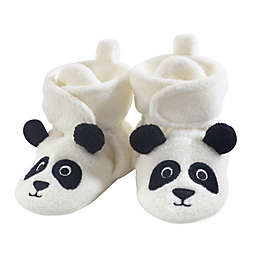 Hudson Baby® Size 6-12M Panda Bear Fleece Scooties in White