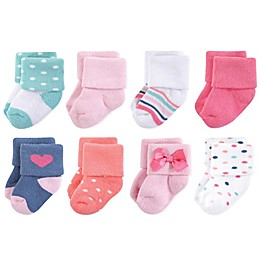 Little Treasures Terry Confetti 8-Pack Socks in Pink