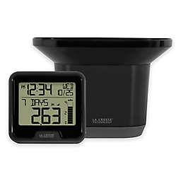La Crosse Technology Digital Rain Gauge with Indoor Temperature in Black