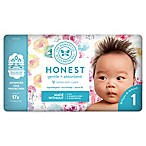 Honest 35-Pack Size 1 Diapers in Rose Blossom Pattern