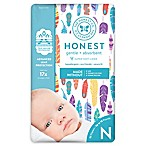 Honest 32-Pack Size 0 Diapers in Painted Feathers Pattern