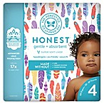 Honest 23-Pack Size 4 Diapers in Painted Feathers Pattern
