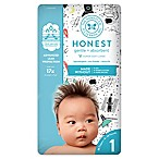 Honest 35-Pack Size 1 Diapers in Space Traveling Pattern