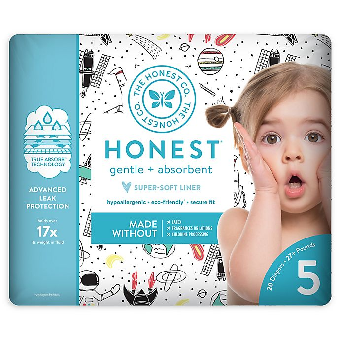 Alternate image 1 for The Honest Company® Space Traveling Size 5 20-Count Disposable Diapers