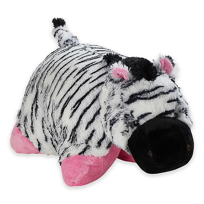 Alternate image 1 for Pillow Pets® Signature Large Zippity Zebra Pillow Pet in Black/White