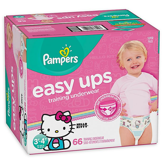 Alternate image 1 for Pampers® Easy Ups 66-Count Size 3-4T Girl's Training Underwear