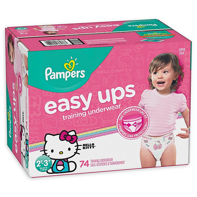 Alternate image 1 for Pampers® Easy Ups Size 2-3T 74-Count Girl's Training Underwear