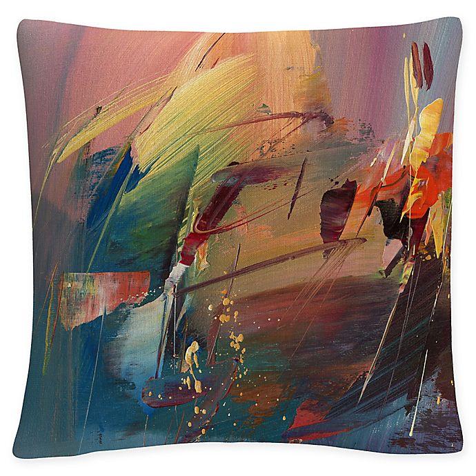 Alternate image 1 for Tapia Garden Square Throw Pillow in Orange