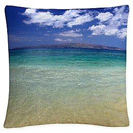 Hawaii Square Throw Pillow in Blue