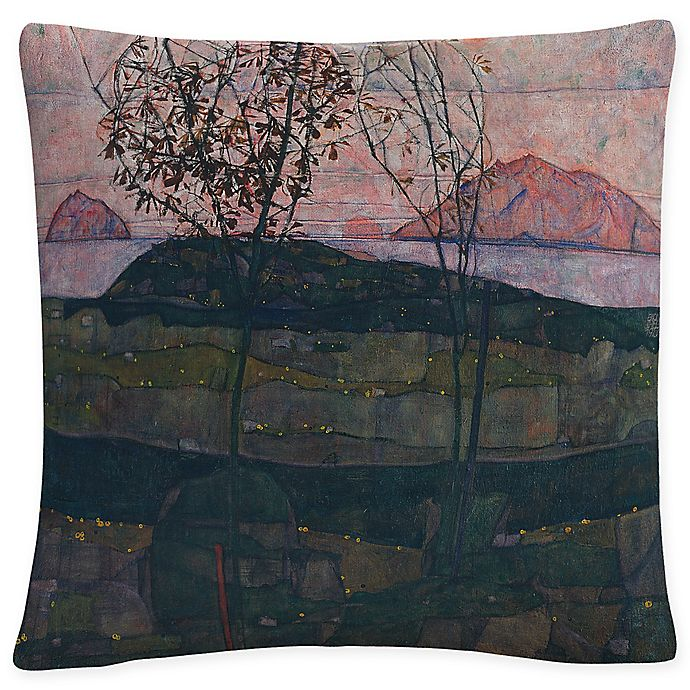 Alternate image 1 for Setting Sun Square Throw Pillow in Grey