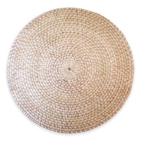 Rattan Round Placemat In Natural Bed Bath Amp Beyond