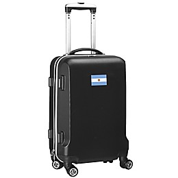Denco Mojo Argentina Flag 21-Inch Hardside Spinner Carry-On Lugagge