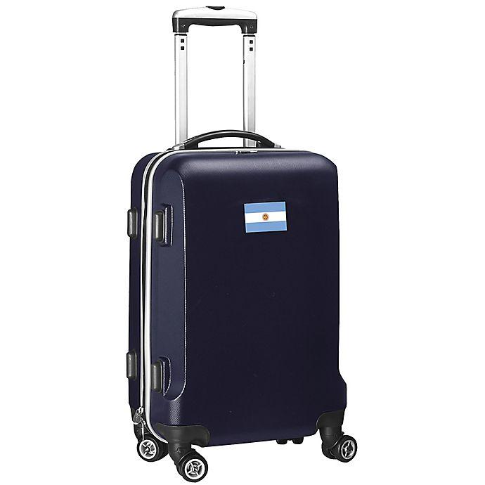 Alternate image 1 for Denco Mojo Argentina Flag 21-Inch Hardside Spinner Carry-On Luggage in Navy