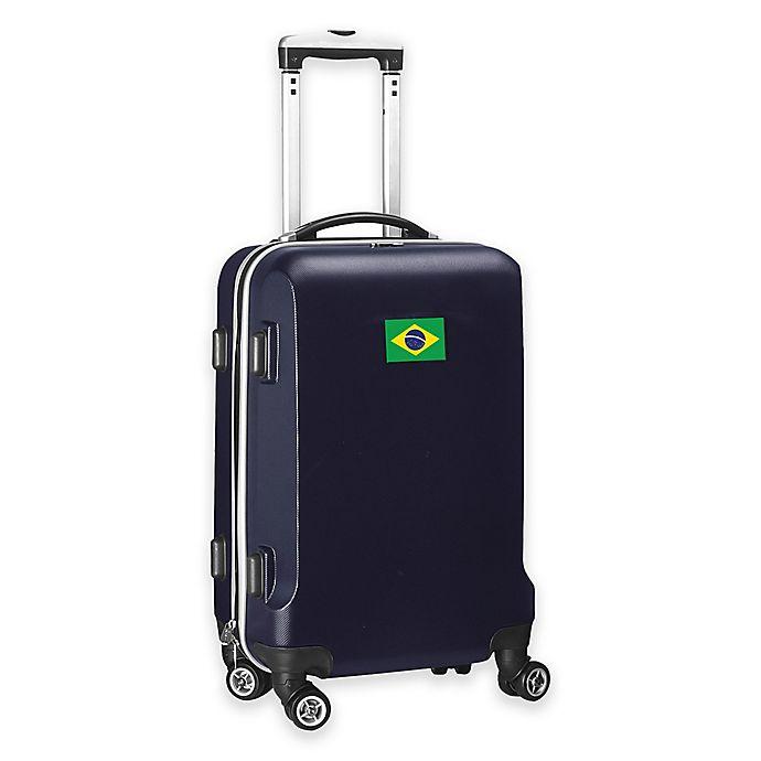 Alternate image 1 for Denco Mojo Brazil Flag 21-Inch Hardside Carry-On Spinner Luggage