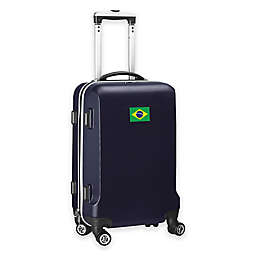 Denco Mojo Brazil Flag 21-Inch Hardside Carry-On Spinner Luggage