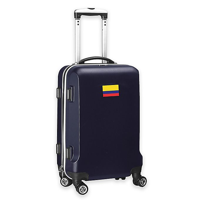 Alternate image 1 for Denco Mojo Colombia Flag 21-Inch Hardside Spinner Carry-On Luggage in Navy