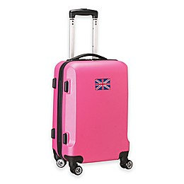 Denco Mojo England Flag 21-Inch Hardside Carry-On Spinner Luggage