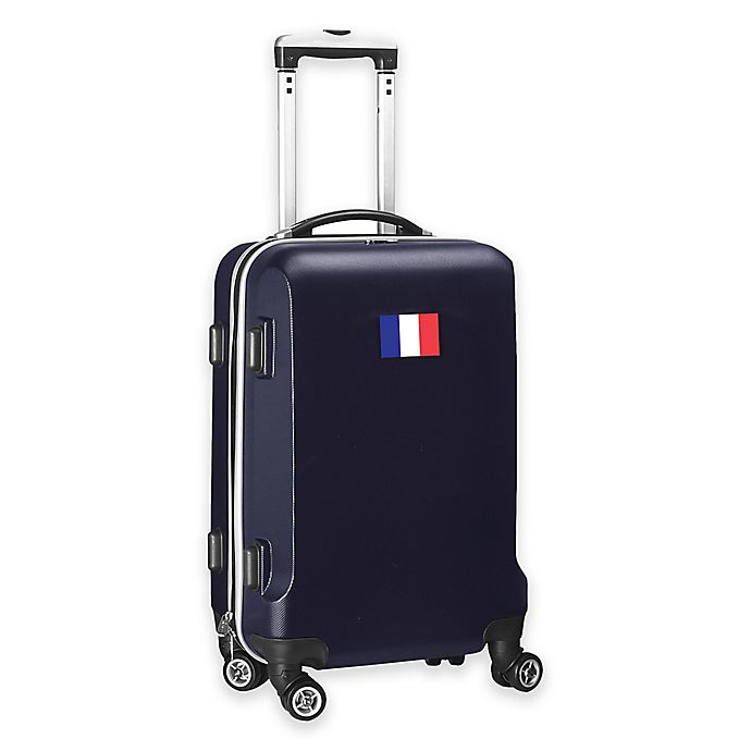 Alternate image 1 for Denco Mojo France Flag 21-Inch Hardside Spinner Carry-On Luggage in Navy