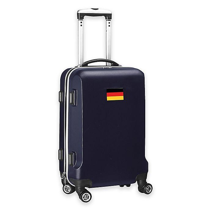 Alternate image 1 for Denco Mojo Germany Flag 21-Inch Hardside Spinner Carry-On Luggage in Navy