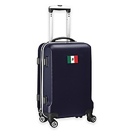 Denco Mojo Mexico Flag 21-Inch Hardside Carry-On Spinner Luggage