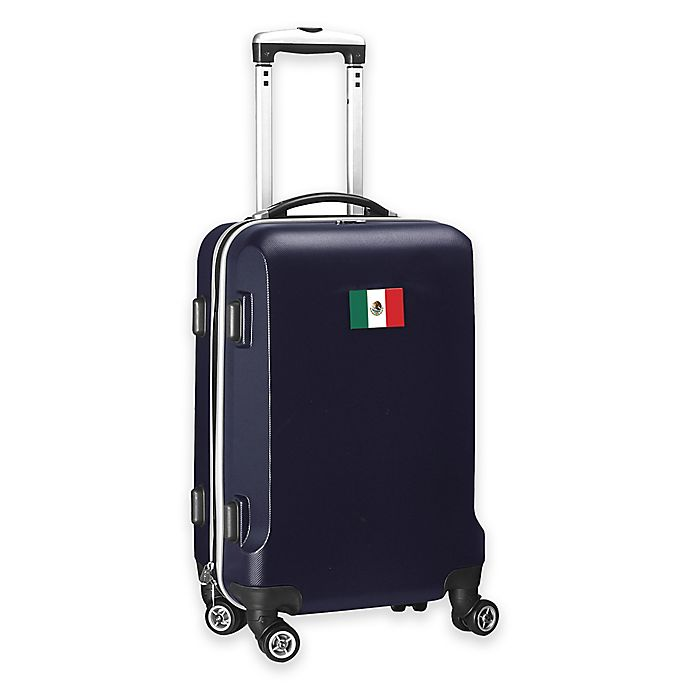 Alternate image 1 for Denco Mojo Mexico Flag 21-Inch Hardside Carry-On Spinner Luggage
