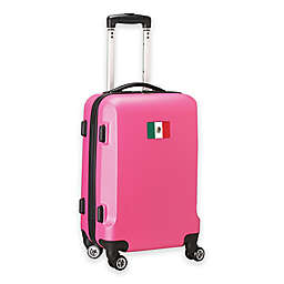 Denco Mojo Mexico Flag 21-Inch Hardside Spinner Carry-On Luggage in Pink