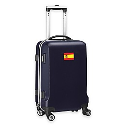 Denco Mojo Spain Flag 21-Inch Hardside Carry-On Spinner Luggage