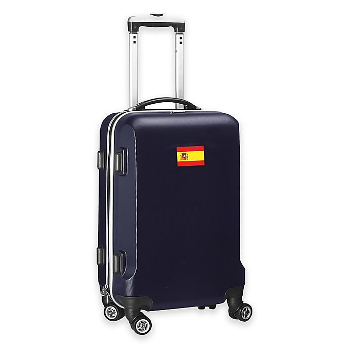 Alternate image 1 for Denco Mojo Spain Flag 21-Inch Hardside Spinner Carry-On Luggage in Navy