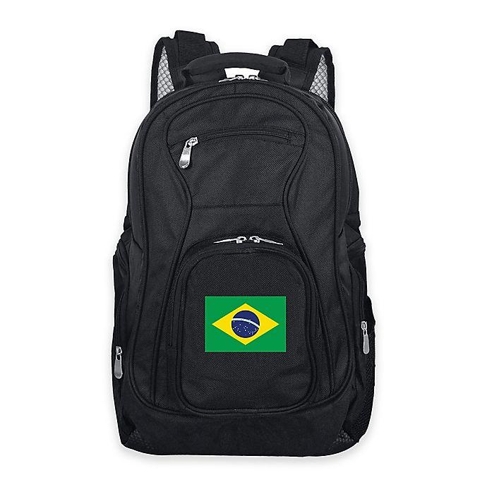 Alternate image 1 for Mojo Brazil 19-Inch Premium Laptop Backpack in Black
