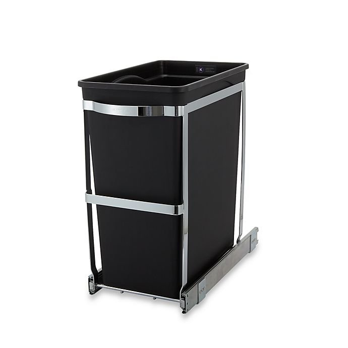 Simplehuman Commercial Grade 30 Liter Pull Out Trash Can Bed Bath