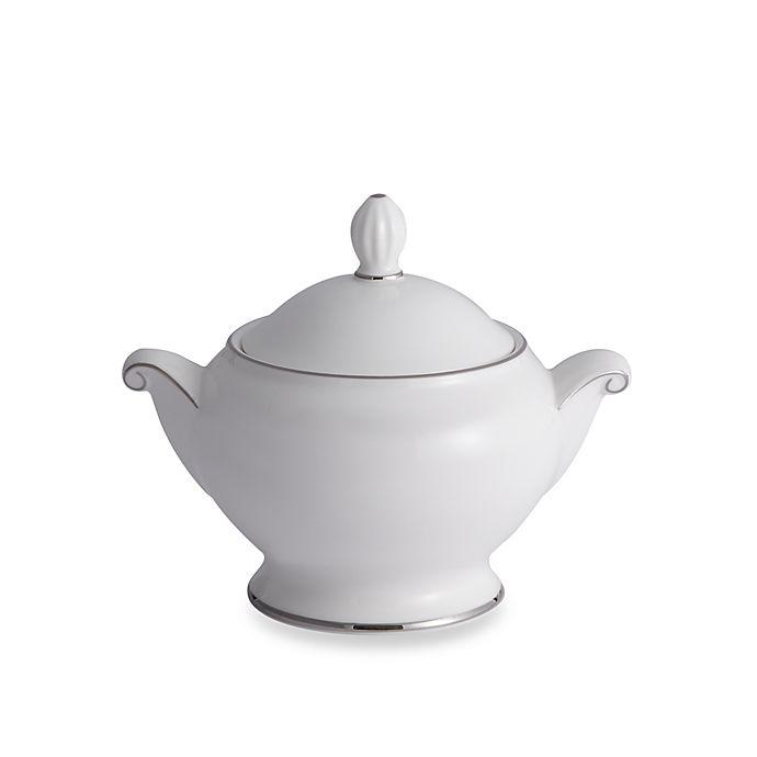 Alternate image 1 for Mikasa® Cameo Platinum Covered Sugar Bowl