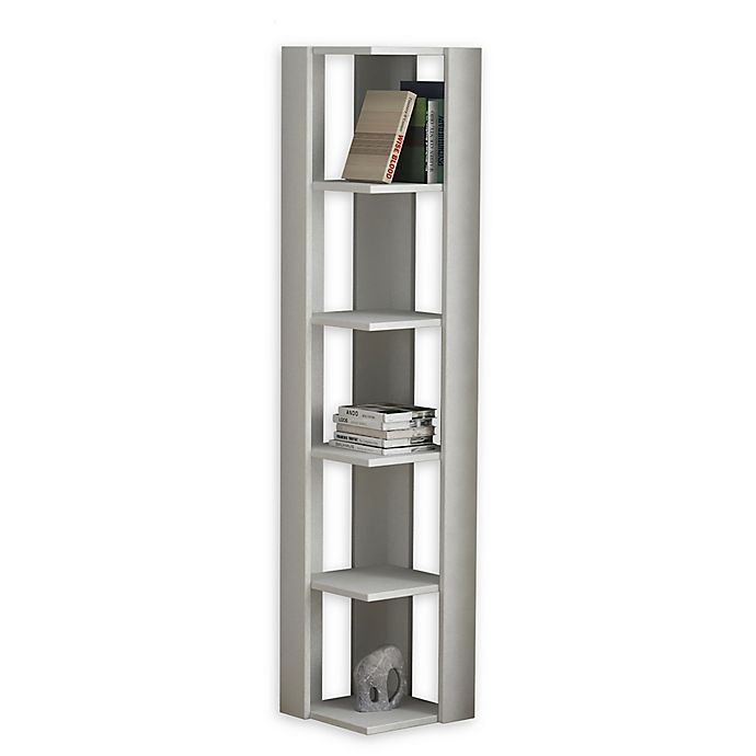Alternate image 1 for Bruce Wooden Bookcase in White