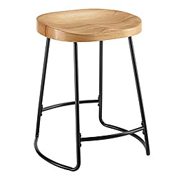 Linon Home Bryson Tractor Seat Bar and Counter Stool