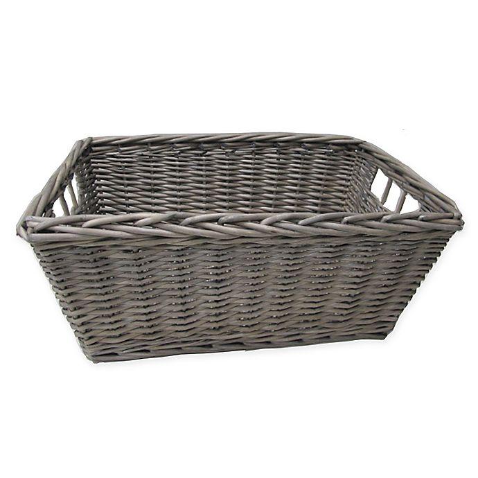 Alternate image 1 for Bee & Willow™ Home Rectangular Storage Basket in Grey